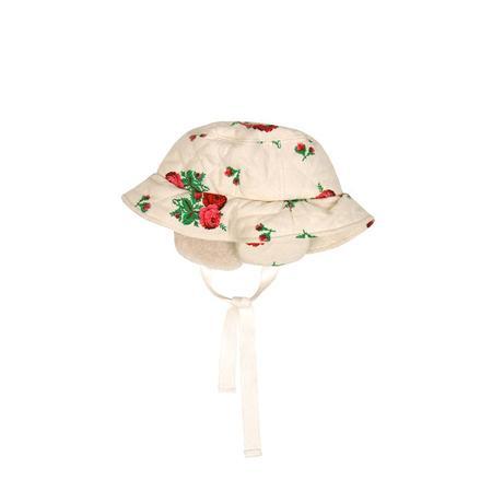 KIDS Tambere Chesa Quilted Hat - CREAM ROSE PRINT