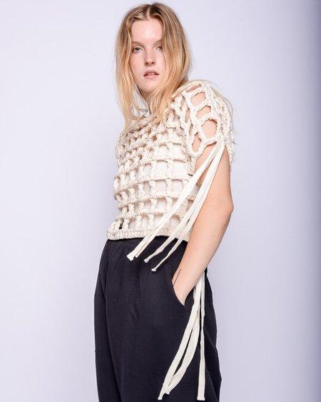 Atelier Delphine Freedom crochet top - ecru