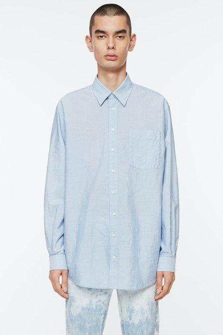 Schnayderman's Non Binary Shirt - Mini Stripe Light Blue