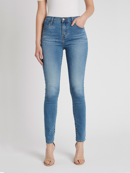 J Brand Maria High Rise Skinny Jean - Mid Denim