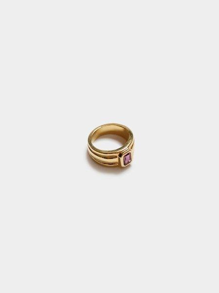 Wolf Circus Alexandrite Rectangle Ring