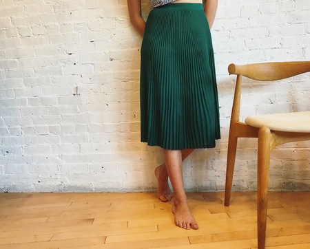 Catherine André Skirt - Emerald Green
