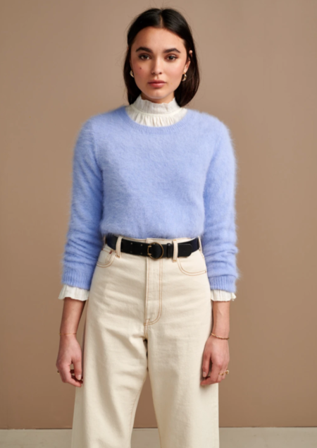 Bellerose Datti Angora Sweater - Sky Blue