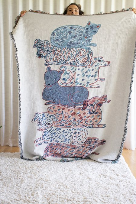 Olivia Wendel Textiles Cats and Dogs Totem Blanket