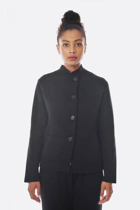 Oyuna Knitted FItted Jacket - Black