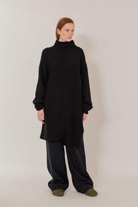 Oyuna Anja Knitted Cashmere Dress - Black