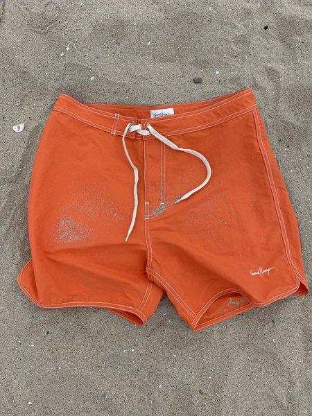 SECOND/LAYER Surf Trunk - Orange