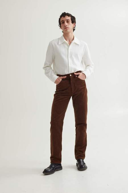 Sefr Sin Cord Jeans - Chocolate Brown