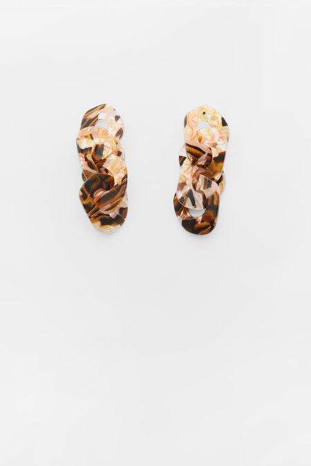 Valet Studio Adora Earrings - Brown Marble