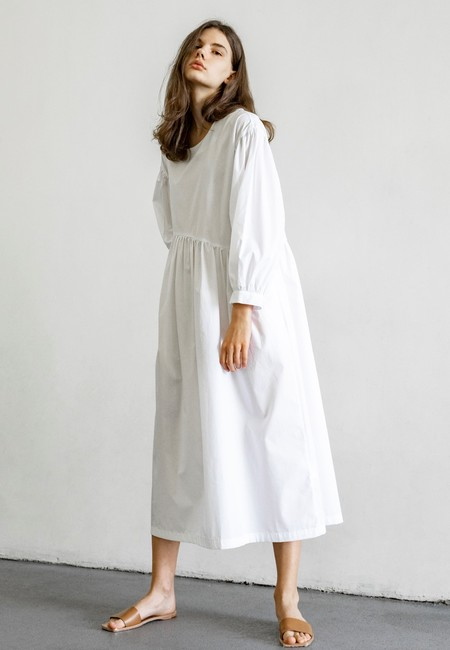 TIGRE ET TIGRE JAYME DRESS - WHITE POPLIN
