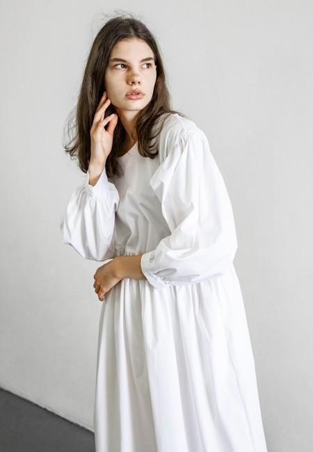TIGRE ET TIGRE JAYME DRESS - WHITE POPLIN