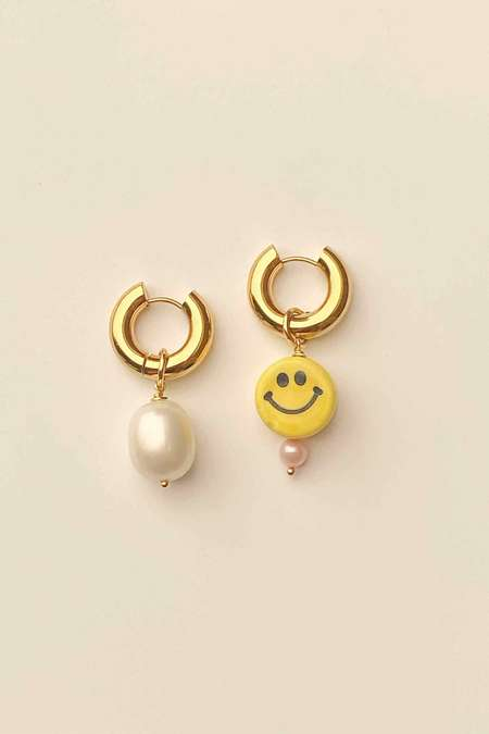 Notte Jewelry Happy Together Earrings - Smiley