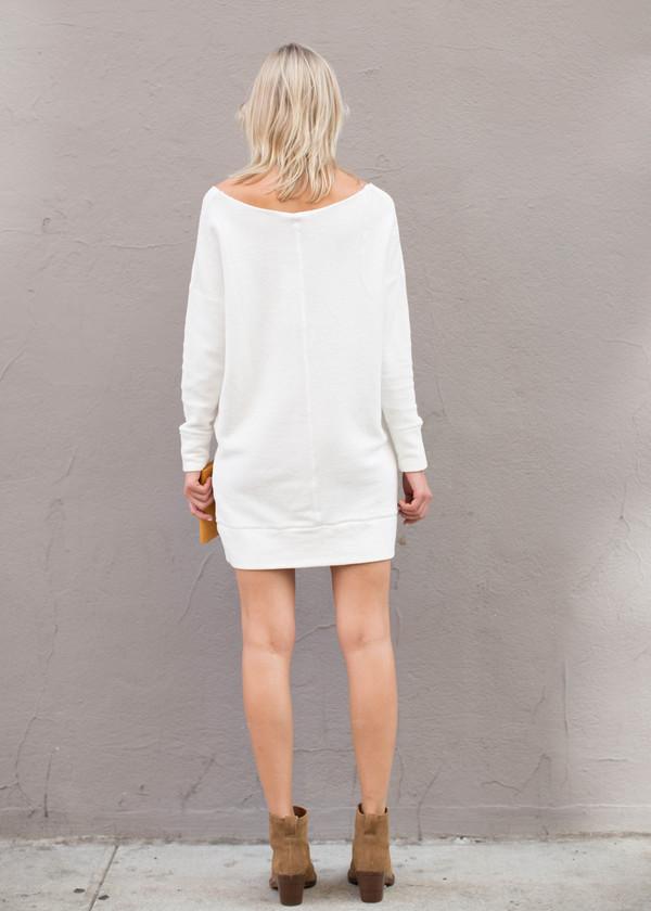 Bobi Wide V-Neck Cotton Tunic/Dress