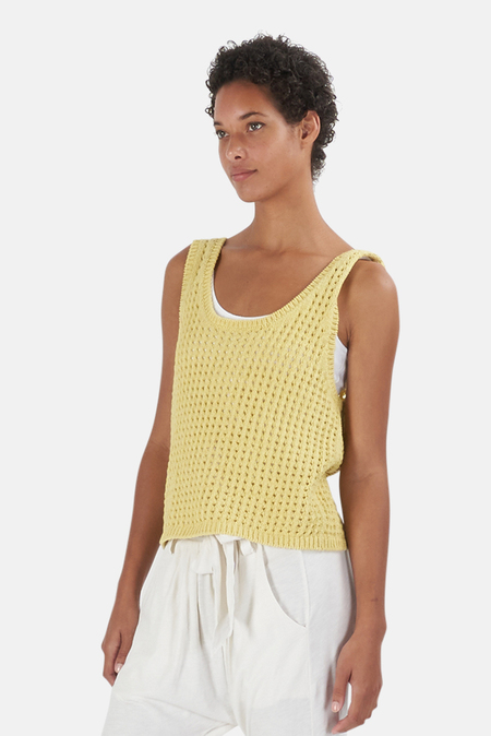 Nanushka Tula Knit Top - Acid Yellow