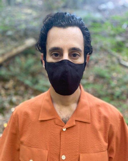 Tony Shirtmakers Italian Linen Face Mask - Black