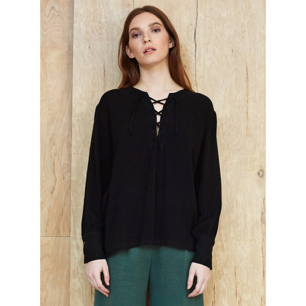 First Rite Lace up Blouse