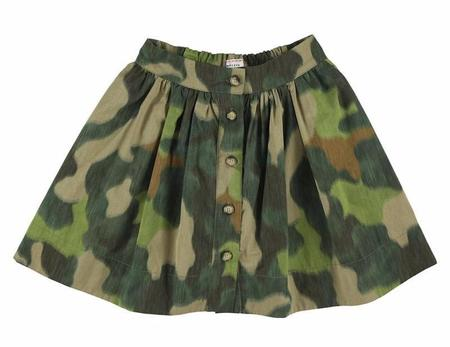 Kids morley mistral abby skirt - khaki
