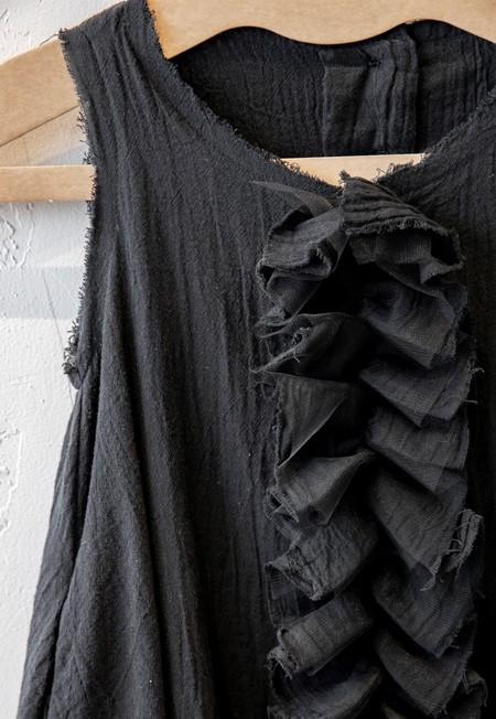 Kids Little Creative Factory Muslin Ruffle Dress - Black