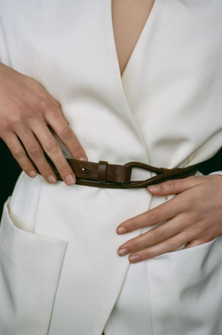 Modern Weaving Skinny Waist Wrap Belt - Poppy Red