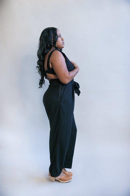 Field Day Liberty Jumpsuit - Black Linen