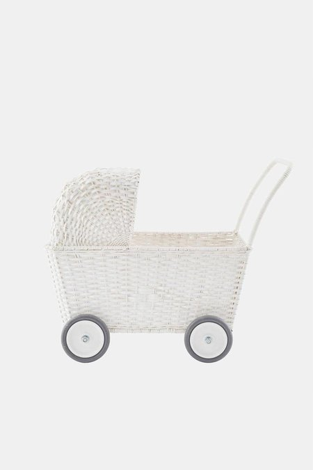 kids Olli Ella STROLLEY WITH MATTRESS - WHITE