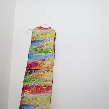 VINTAGE Kintsugi Colorful Print Dress