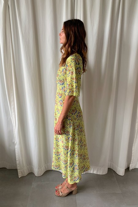 No.6 Lena Dress - Lime Floral
