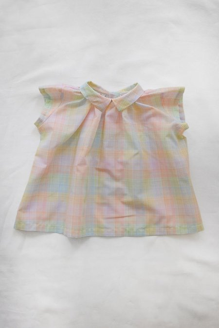 Kids Makié Tara Baby Blouse - Rainbow Check