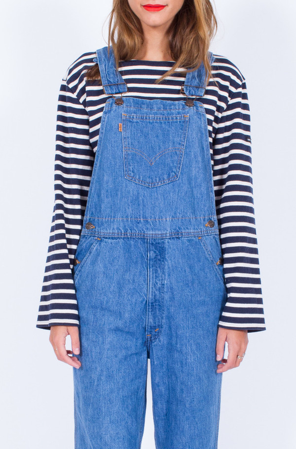 70s LEVIS DENIM OVERALLS (SMALL-MEDIUM)