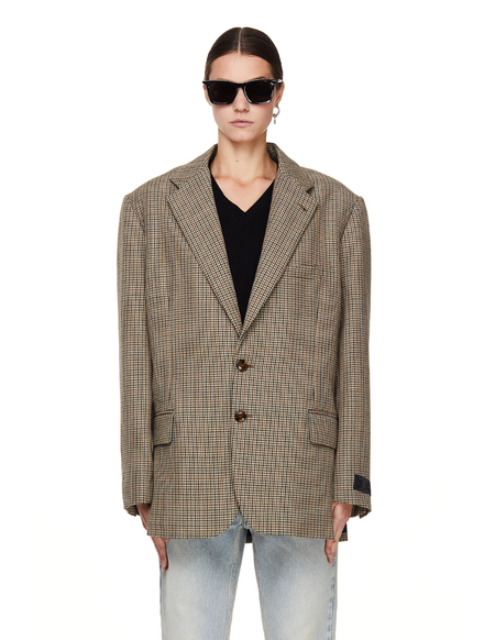 Vetements Oversize Checked Wool Jacket