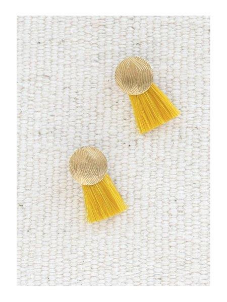 Anna Monet Mini Iris Earring - Yellow Gold Plated Brass