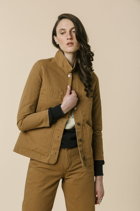 Carleen Triangle Pocket Jacket - Wheat