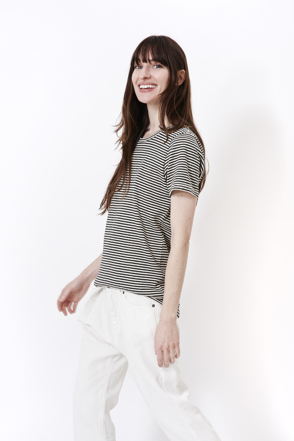 Jungmaven Black & White Stripe Tee