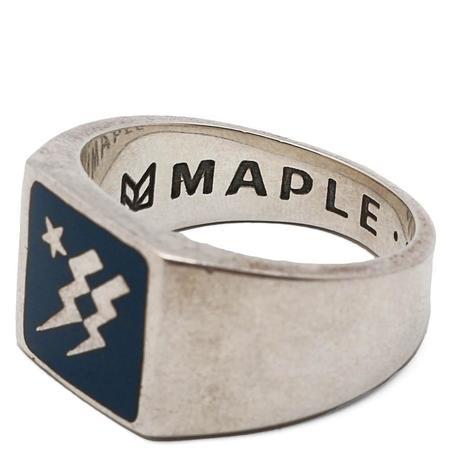 MAPLE Lightning Ring - Silver/Navy