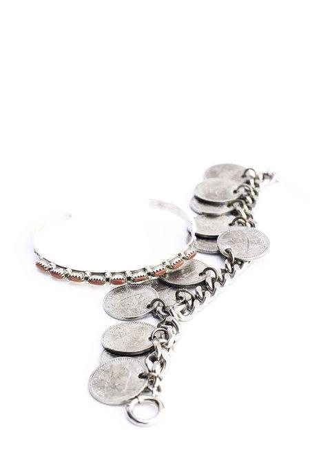 Alchemy Works Vintage Cuff - Silver/Coral
