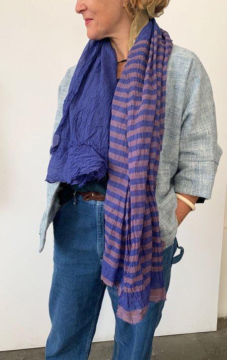 Two Sheer tone on tone sarong - purple