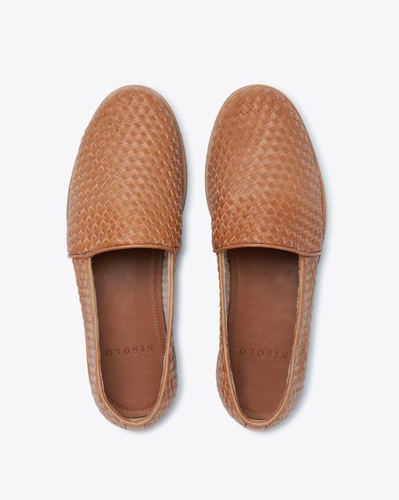 Nisolo Mara Woven Slip On SHOES - Brown