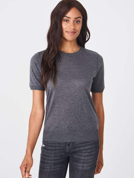 Repeat Cashmere T-shirt in cotton blend - grey