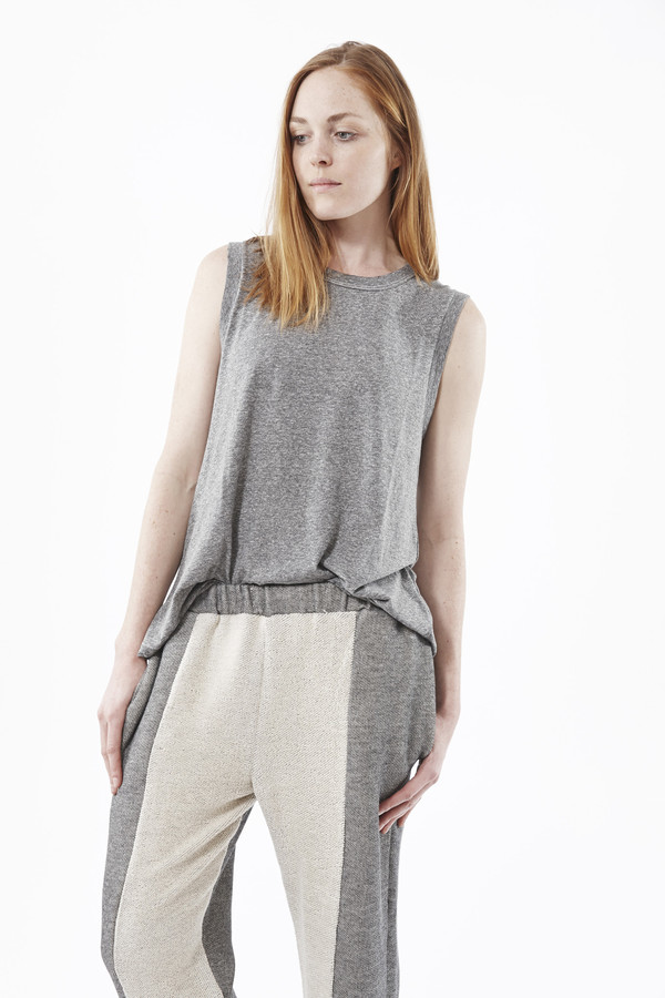 REIF HAUS Contra Lounge Pant in Heather Grey