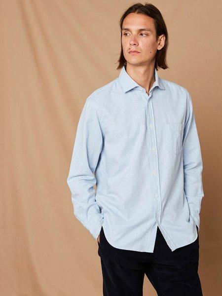 Hartford Paul Flannel Shirt - Light Blue