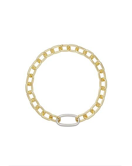 Machete Link Statement Necklace 2.0 - Recycled Brass / 14k Gold Plate