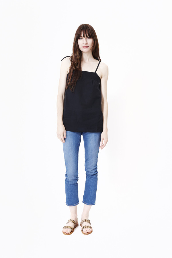 Namche Bazaar Handloomed Voile Cotton Tie Tank