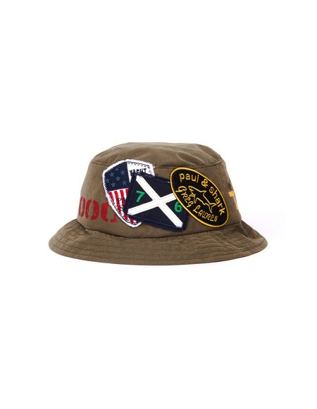 Greg Lauren Hat With Patches - Green