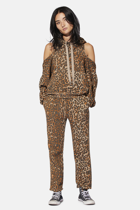 NSF Clarence Track Pants - Taupe Leopard