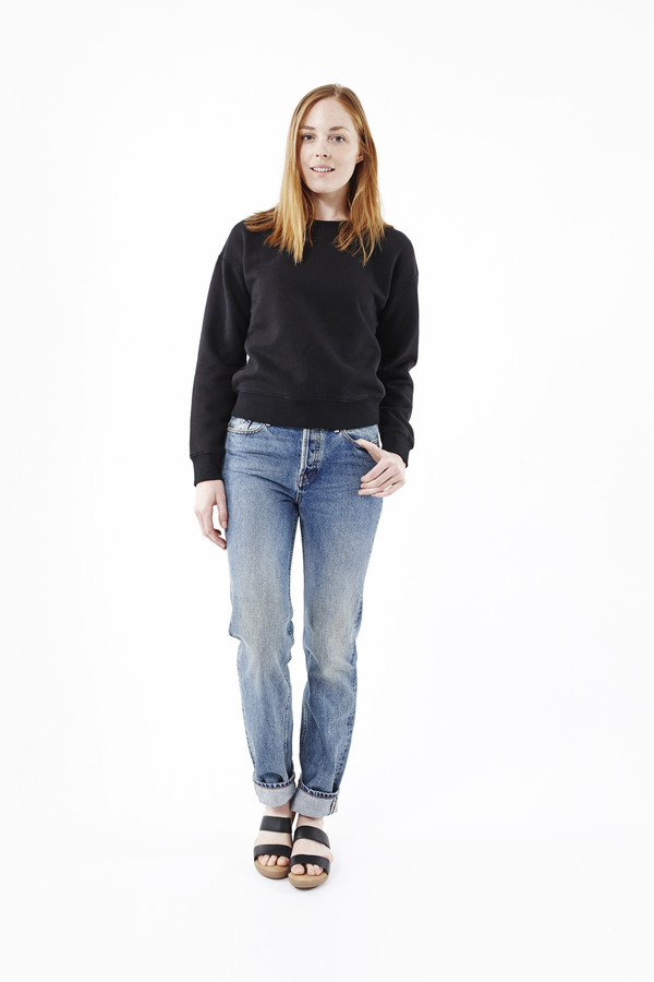 EARNEST SEWN Victoria Straight Leg Jeans in Light Blue