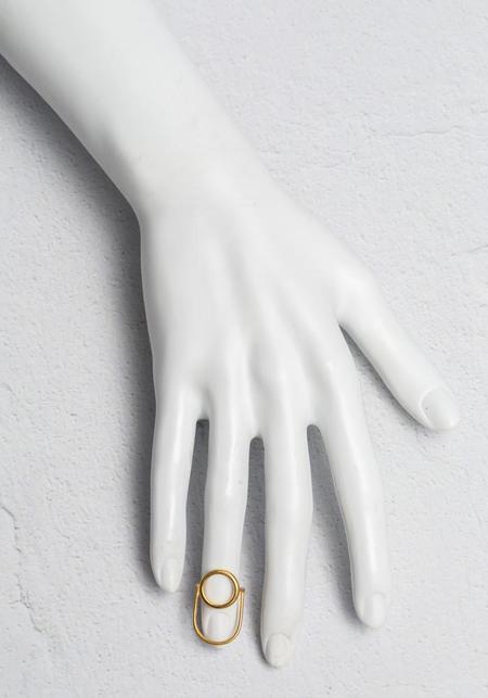 Aziza NAIL RING - Gold Vermeil