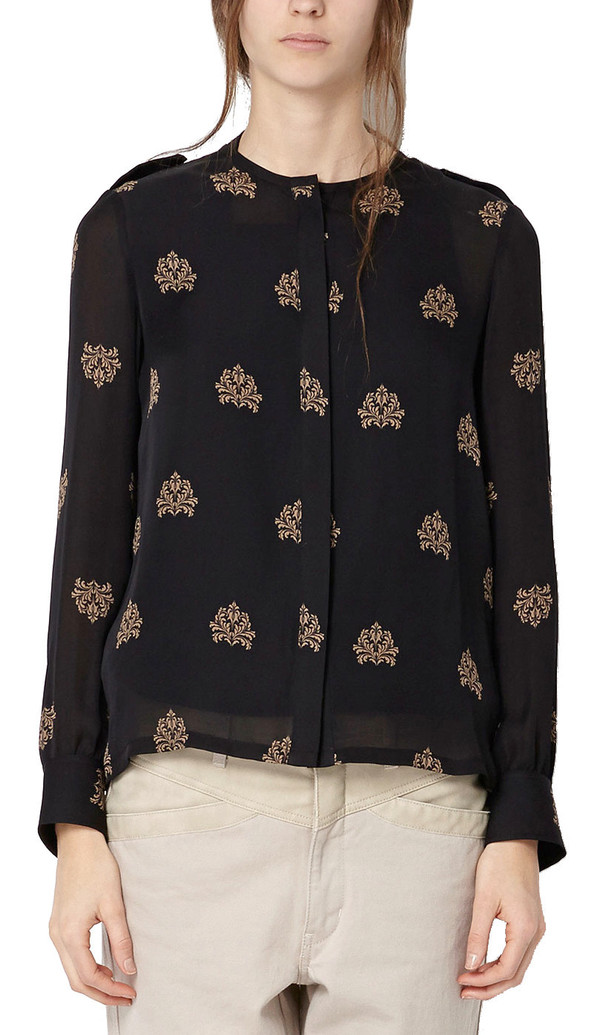 Hoss Intropia Silk Pattern Blouse