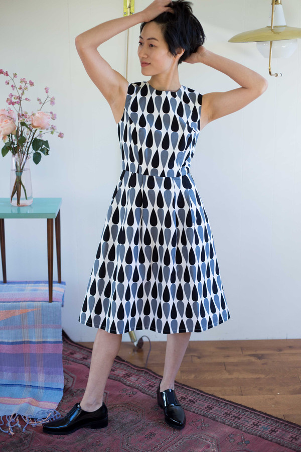 Birds of North America Gravateiro Dress in Black and White