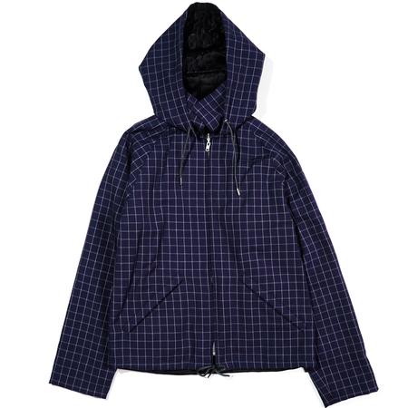 Marni Yarn. Dyed Wool Check Jackets - Light Navy Check