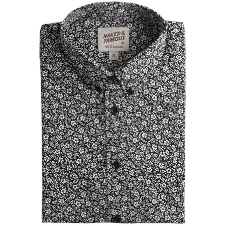 Naked & Famous EASY SHIRT - BLACK / WHITE FLORAL